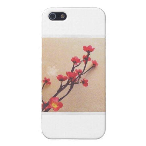 Plástico de la flor de cerezo fantástico iPhone 5 funda