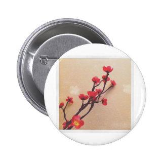 Plástico de la flor de cerezo fantástico pin redondo de 2 pulgadas
