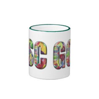 Plástico del caramelo taza de dos colores