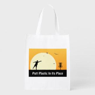 Plástico del putt en su lugar bolsas para la compra