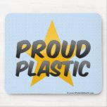Plástico orgulloso alfombrilla de raton