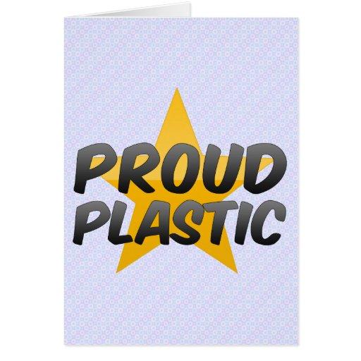 Plástico orgulloso felicitación