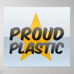 Plástico orgulloso impresiones