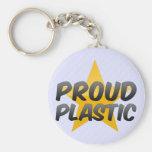 Plástico orgulloso llaveros