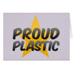 Plástico orgulloso tarjeta
