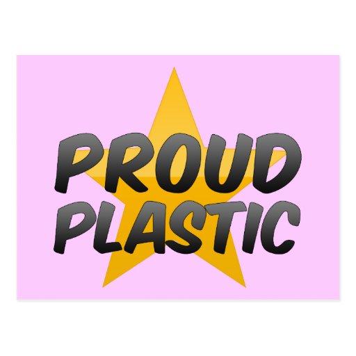 Plástico orgulloso tarjetas postales