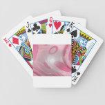 plástico rosado baraja de cartas