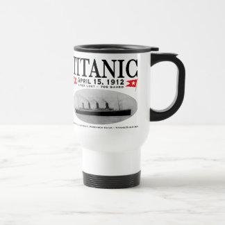 Plástico titánico de la taza del viaje de la nave