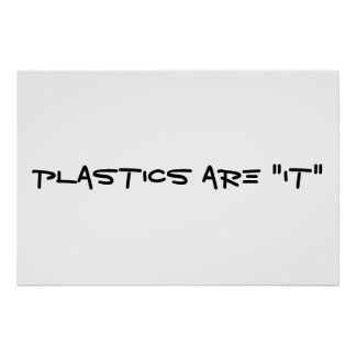 Plastics Captions Poster