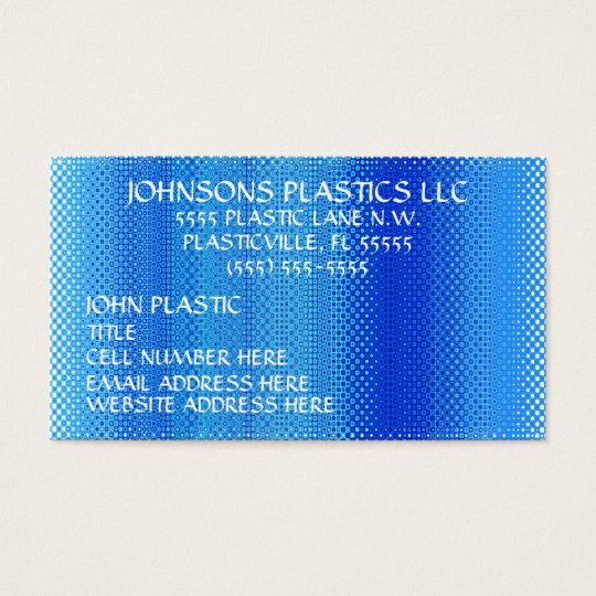 Plastics Company Business Card
