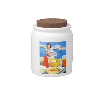 Plastics Suburban Kitsch Housewife Kitchen Candy Jar