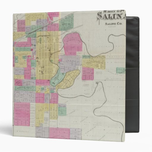 Plat of the City of Salina, Kansas Vinyl Binder