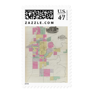 Plat of the City of Salina, Kansas Postage