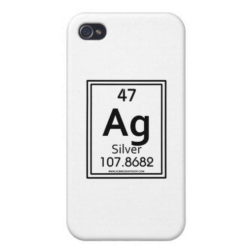 Plata 47 iPhone 4 carcasas