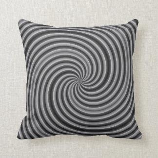 Plata abstracta y almohada de tiro gris del remoli