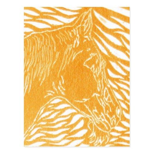 Plata anaranjada tarjetas postales