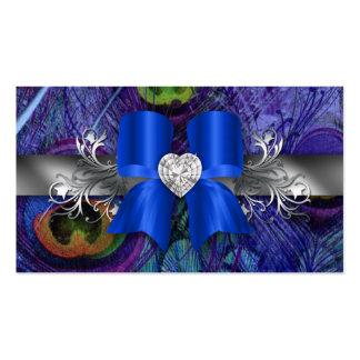 Plata azul del arco de la tarjeta de visita del pa
