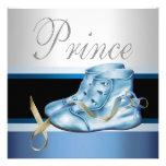Plata azul y príncipe azul fiesta de bienvenida al