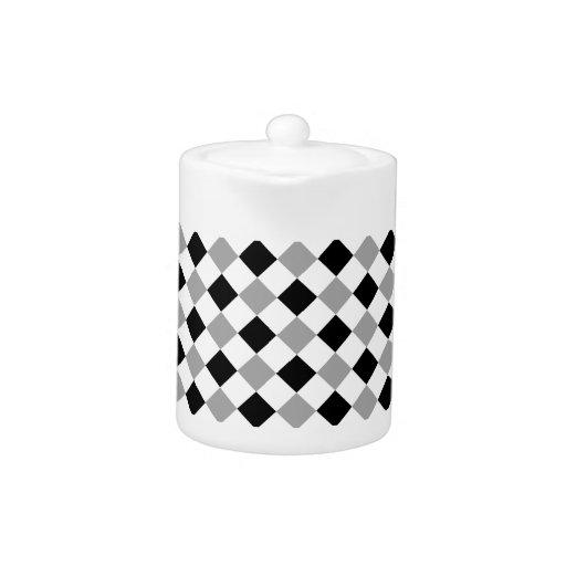 Plata blanco y negro de la tela escocesa 1