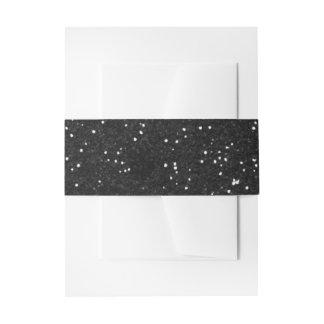 Plata brillante y brillo negro cintas para invitaciones