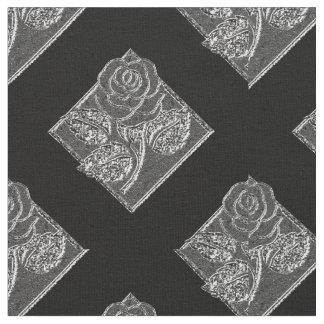 Plata color de rosa Diamonds-17 y tela Telas