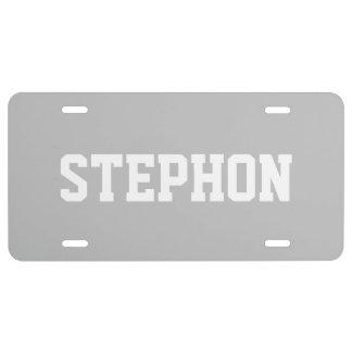 Plata coloreada exclusiva conocida placa de matrícula