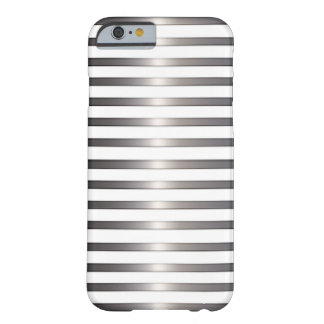 Plata con clase y blanco funda para iPhone 6 barely there