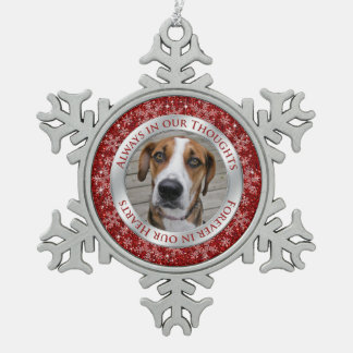 Plata conmemorativa del rojo del navidad de la fot adorno