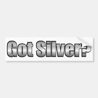 ¿Plata conseguida? Pegatina para el parachoques Pegatina Para Auto