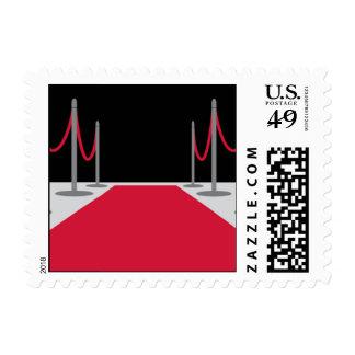 Plata de la alfombra roja timbre postal