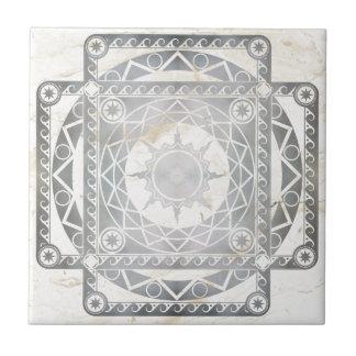 Plata de la Atlántida de los artes en el mármol bl Azulejo Cuadrado Pequeño