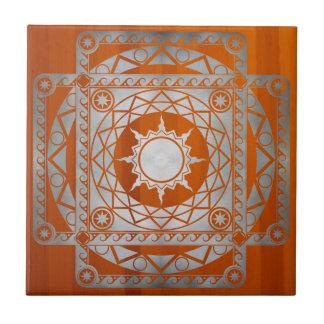 Plata de la Atlántida de los artes en la madera am Azulejo Cuadrado Pequeño