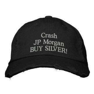 ¡PLATA de la COMPRA de JP Morgan del desplome! Gorras De Beisbol Bordadas