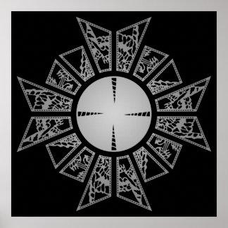 Plata de la estrella del Lament Póster