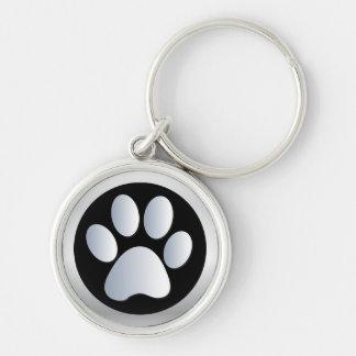 Plata de la impresión de la pata del perro, llaver llaveros personalizados
