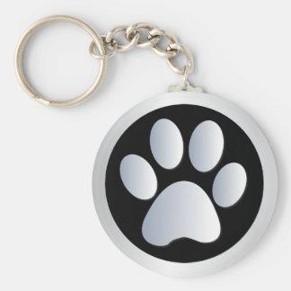 Plata de la impresión de la pata del perro, llaver llavero personalizado