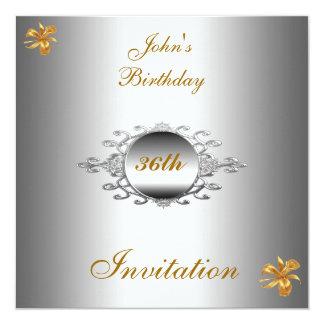 Plata de la invitación de la fiesta de cumpleaños