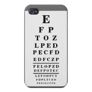 Plata de la oscuridad de la optometría de la carta iPhone 4 fundas