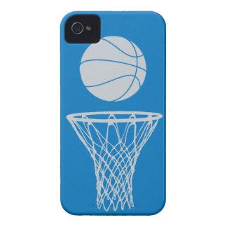plata de la silueta del baloncesto del iPhone 4 en iPhone 4 Coberturas