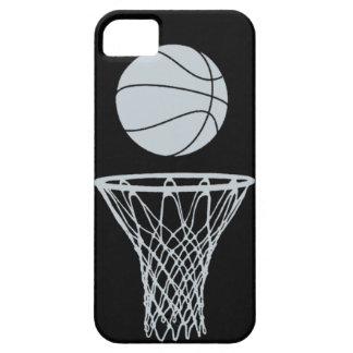 plata de la silueta del baloncesto del iPhone 5 en iPhone 5 Cobertura