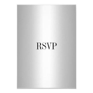 """Plata de la tarjeta de la respuesta de RSVP todos Invitación 3.5"""" X 5"""""""