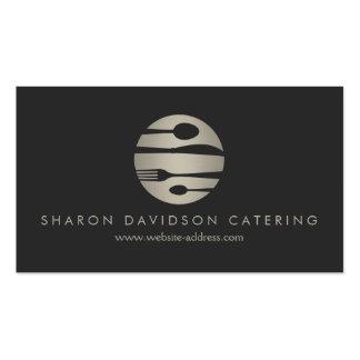 Plata de lujo y abastecimiento negro, restaurante, tarjetas de visita