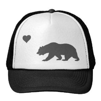 Plata del amor de California y gorra negro del cam