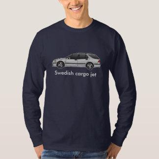 plata del carro 01aero, jet sueco del cargo remeras