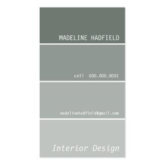 Plata del gris de la muestra del microprocesador tarjetas de visita