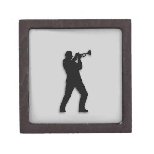 Plata del jugador de trompeta caja de regalo de calidad
