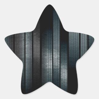 Plata del metal pegatina en forma de estrella