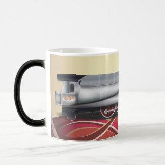 Plata del motor de vapor taza de café