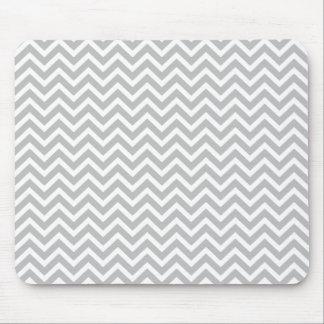 Plata del navidad y zigzag rayado blanco de mouse pad