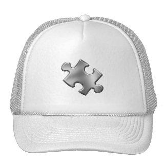 Plata del pedazo del rompecabezas del autismo gorra